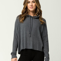 OTHERS FOLLOW Cozy Ribbed Womens Hoodie