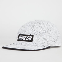 Nike Sb Speckle Mens 5 Panel Hat White/Black One Size For Men 23780516801