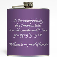 Will You Be My Bridesmaid? - Wedding Flask