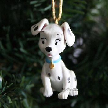 Licensed cool NEW CUSTOM Disney 101 DALMATIANS PENNY DOG Sitting Christmas Ornament PVC