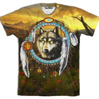 ☮♡ Wolf Dream Catcher Shirt ✞☆