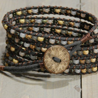 Neutral Rustic Wrap Bracelet