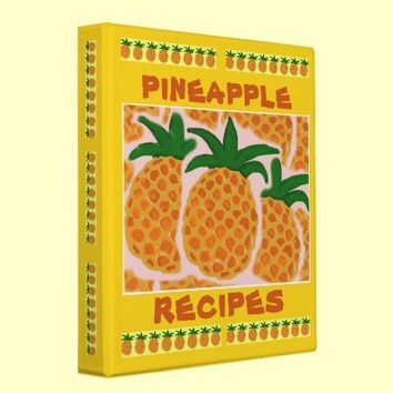 Pineapple Binder for your recipes from Zazzle.com