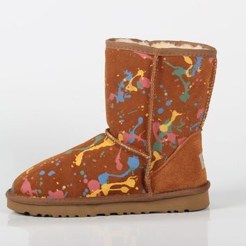 UGG 2018 winter new men and women models warm snow boots