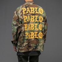 I Feel like Pablo Camo Jacket - WEHUSTLE | MENSWEAR, WOMENSWEAR, HATS, MIXTAPES & MORE