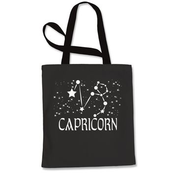 Capricorn Zodiac Star Chart  Shopping Tote Bag