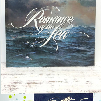 Coffee Table Book, Romance of the Sea, Photo Prop, Nautica,Ephemera,Nautical Ephemera,Beach Decor ,Boating Ships,Sailing, First Edition