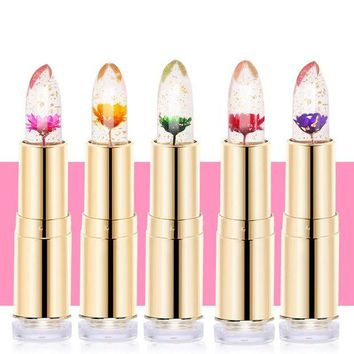 LMFUS4 LEARNEVER Jelly Flower Lipstick Magic Color Changing Long Lasting Moisturizing Lip Gloss M02560