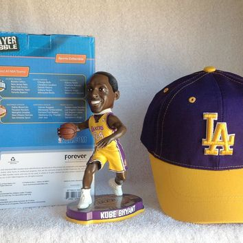 kobe bryant bobblehead and lakers hat  number 1
