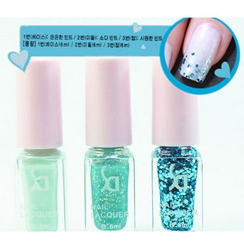 6ML Fashion 12 Colors Optional Gel Polish 3pcs/set Nail Polish Set Soak Off UV Nail Gel Long Lasting Gorgeous Colors