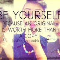 be yourself - inspiring picture on Favim.com