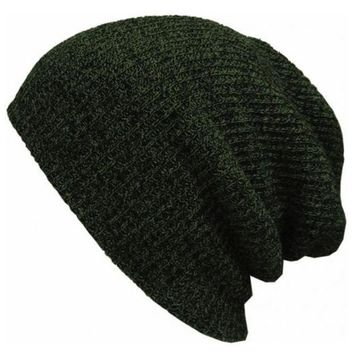 onetow One-nice? Perfect Fashion Stripe Crochet Women Men Beanies Winter Knit Hat Cap