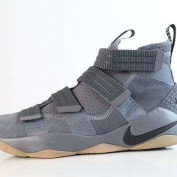 BC QIYIF Nike LBJ Lebron Soldier XI  SFG Dark Grey Circuit Orange Gum 897646-003