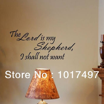 The Lord Is My Shepherd Vinyl Wall Lettering Sayings Words Decals Art Sticker