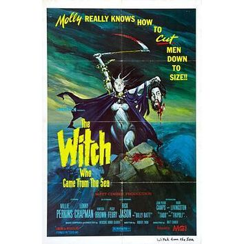 Witch Who Came From The Sea The Movie poster Metal Sign Wall Art 8in x 12in
