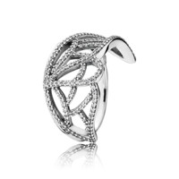 PANDORA | Butterfly wing silver ring with cubic zirconia