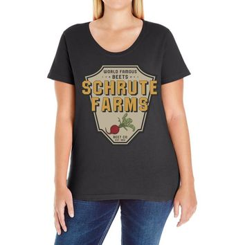 World Famous Beets Schrute Farms Ladies Curvy T-Shirt