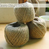 100% Natural Hemp Cord Jute Rope Twine Roll for Arts & Crafts Gift Tags Wrapping DIY Decorations 1 roll = 100 meters