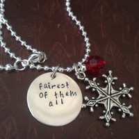 Fairest of them All - Snow White Adult Princess Necklace