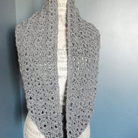 Heather Gray Infinity Scarf or Cowl by SnugableTouches on Etsy