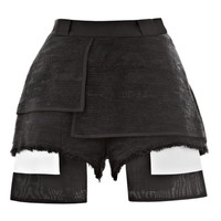 Tweed Hot Pants with Raw Edge Detail by Ellery Now Available on Moda Operandi