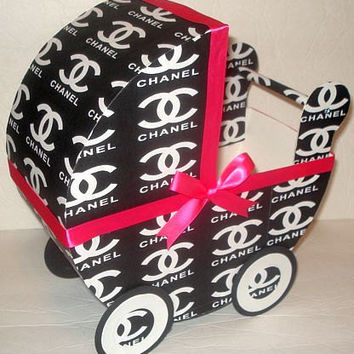 CHANEL  Inspired Baby Carriage Table Centerpiece / Gift Box