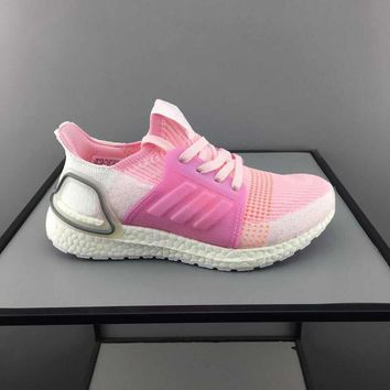 adidas Ultra Boost Pink White Toddler Kid Running Shoes Child Low Top Sneakers - Best Deal Online
