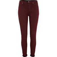 Red roll up Molly jeggings