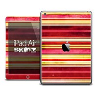 The Vintage Red Striped Skin for the iPad Air