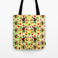 Santa with friends and season love Tote Bag by Pepita Selles