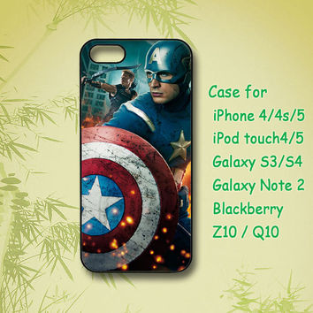 US captain, iPhone 4 Case, iPhone 5 Case, ipod case, Samsung Galaxy S4, Samsung Galaxy S3,Samsung note 2,blackberry z10,Q10