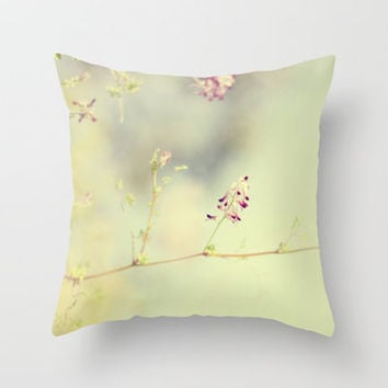 soft scent of spring Throw Pillow by ingz