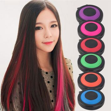 Professional Temporary Hair Dye Powder Cake Styling Hair Chalk Set Soft Pastels Salon Tools Kit Non-toxic