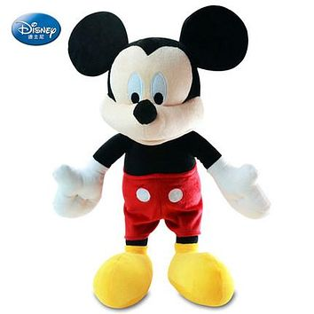 Lovely Mickey Mouse Disney Character Mickey Doll With Red Shorts Basic Style Soft Plush Stuffed Toys For Children Christmas Gift