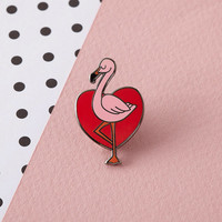 Tropical Flamingo Enamel Pin with clutch back // lapel pins, tropical, hawaiian // EP089