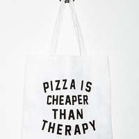Pizza Therapy Graphic Tote