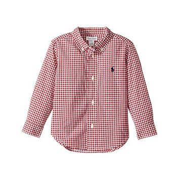 Ralph Lauren Baby Gingham Cotton Poplin Shirt (Infant)