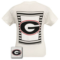 New Georgia Bulldogs Preppy Glitter Logo Girlie Bright T Shirt