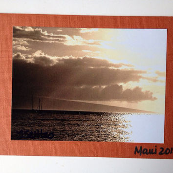 Sunset Maui Photo Greeting Card