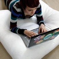 Large Dorm Floor Study Cushion Pillow - 24 x 24 - 6 Inch Deep - Perfect For College - Made In The USA