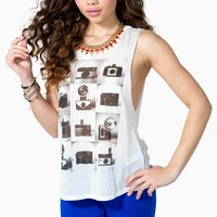 Camera Action Muscle Tee