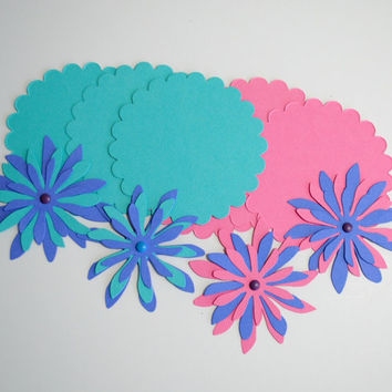 Die Cut Flowers and Tags Scrapbooking Card Making Gift Wrap