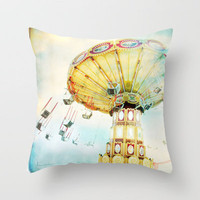 step back into fun Throw Pillow by Minagraphy | Society6