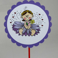 Girls birthday party princess fairy cupcake topper