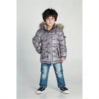 Livobu Kids Rod Toddler Quilted Down Parka Gray With Genuine Coyote Fur Trim,Livobu.com - Like it,Love it,Buy it!