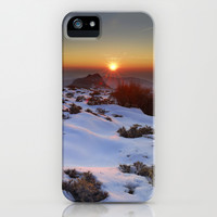 Sunset at the mountains. Sierra Nevada iPhone & iPod Case by Guido Montañés