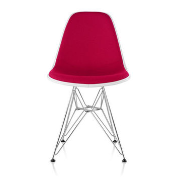 Herman Miller Eames® Molded Fiberglass Side Chair Wire Base with Upholstered Shell