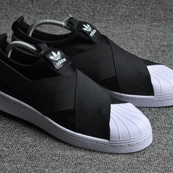 Adidas SUPERSTAR SLIP ON Fashion Flats Sneakers Sport Shoes ac7c5b8315