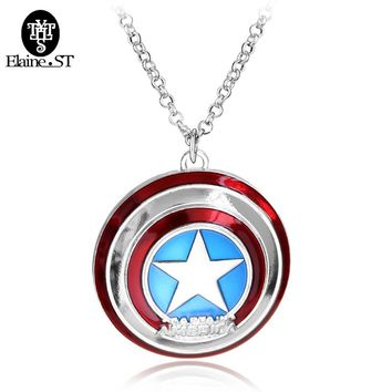 Classic Marvel Movies The Avengers Necklace 5 Style Captain America  Shield and Shield Dog Tag Pendant Necklace For Fans Jewelry