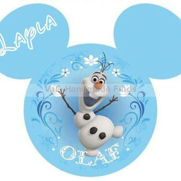 Disneys Frozen Olaf Mickey Mouse Head Disney World Disneyland Personalized w/ Name/Date Printable Iron On Transfer DIY Instant Download